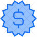 Sale Badge Dollar Discount Badge Icon