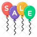 Sale Sign Sale Sale Balloons Icon