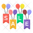 Sale Emblems Sale Sign Sale Balloons Icon
