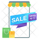 Sale Banner Mcommerce Shopping Sale Icon