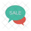 Sale Chat Advertisement Icon