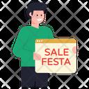 Sale Sale Festa Web Sale Icon