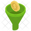 Sale Funnel Dollar Coins Filter Funnel Converting Coins Icon