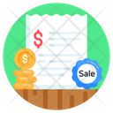 Bank Statement Invoice Financial Document Icon