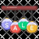 Sale Labels Sale Emblem Hanging Sale Mark Icon