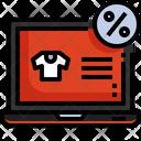 Sale On Tshirt Icon