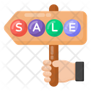 Sale Board Sale Placard Sale Hand Board Icon