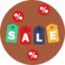 Sale Tag Black Friday Sale Label Icon
