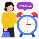 Time For Sale Sale Time Shopping Time Icon
