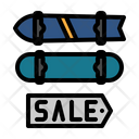 Sales Skateboard Skates Icon
