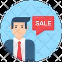 Sales Agent Salesman Salesperson Icon