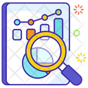 Sales Analysis Market Research Business Report Icon