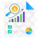 Sales Analysis Trend Analysis Business Analytics Icon