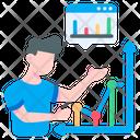 Sales Analytics Chart Icon
