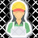 Female Assitant Sales Icon