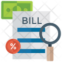 Financial Statement Sales Bill Invoice Icon