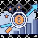 Sales Forcasting Future Sales Market Analysis Icon