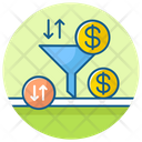 Sales Funnel Funnel Chart Conversion Rate Icon