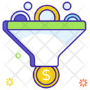 Funnel Analysis Sale Funnel Data Funnel Icon