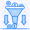 Sales Funnel Data Collection Marketing Filtration Icon