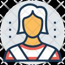 Salesgirl Customer Service Icon