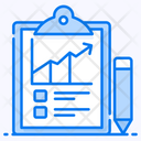 Sales Report Marketing Data Analytics Icon