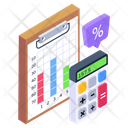 Financial Infographic Business Calculation Accounting Icon