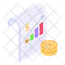 Business Report Growth Report Financial Report Icon