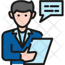 Salesman Contract Business Icon