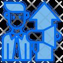 Megaphone Growth Arrow Businessman Icon