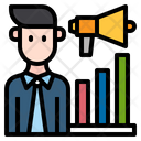 Business Man Finance Graph Icon