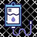 Saline Solution Transfusion Icon