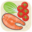 Healthy Grilled Salmon Icon