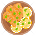 Salmon Raw Salmon Seafood Icon