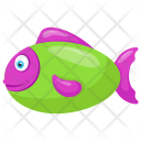 Salmon Seafood Tropical Icon