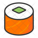 Salmon roll Icon