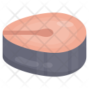 Salmon Slice Meat Icon