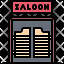 Saloon Door Signboard Icon