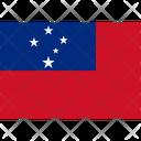 Flag Country Samoa Icon