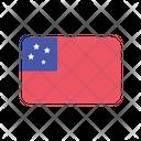 Samoa Flag Country Icon