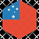 Samoa Flag World Icon