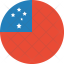 Samoa Flag World Icon