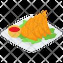 Samoa Platter Indian Cuisine Indian Samosa Icon