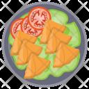 Samosa with Salad Icon
