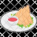 Samosas Fried Samosa Snack Food Icon