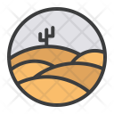 Sand Dunes Desert Icon