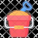 Sand Bucket Shovel Icon