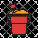 Beach Bucket Holiday Icon