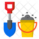 Sand Bucket And Shovel Icon
