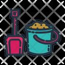 Sand Bucket And Shovel Icon